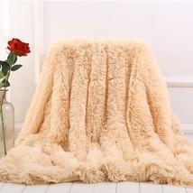 Soft Fur Shaggy Fuzzy Fur Faux Bed Sofa Blankets Warm Elegant Cozy Fluff... - $68.55 CAD+