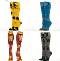 Harry Potter Slytherin,Gryffindor,Raven Claw,Hufflepuff Knee High Socks - $11.75