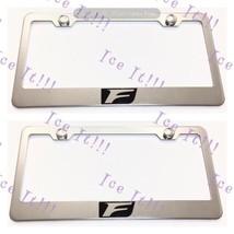 2X Lexus F Sport Logo Stainless Steel License Plate Frame Rust Free W/ Caps - $22.76