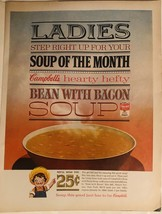 Vintage Campbell's Bean with Bacon Soup Magazine Ad - 1963 - $12.00