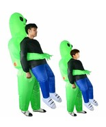 New Inflatable green alien Halloween Costume Adult kids Funny Party Dres... - $30.63+