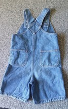 VTG Disney Pixar Cars 95 Lightening McQueen Denim Bibs Shorts 5T Overalls HTF image 2
