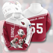 NFL-Arizona-Cardinals Jones 3D Hoodie Unisex Size S-5XL , Gifts For Fans, Gift F - $33.82+