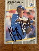 George Brett 1989 Fleer Hand Signed Autographed Baseball Card W/COA Roya... - $46.60