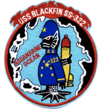 "5"" NAVY USS SS-322 BLACKFIN EMBROIDERED PATCH - $23.74"
