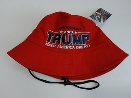 MAGA President Donald Trump 2020 Keep America Great Hat Red Bucket Hat - $15.83