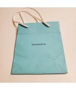 Tiffany & Co paper  gift bag. Very good shape. Teal 6x5x3 Lot 3 - $11.00