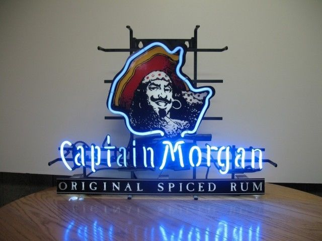 """New Captain Morgan Pirate Whiskey Beer Bar Neon Sign 24""""x20"""""""