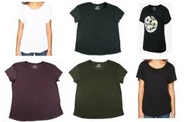 Hurley Women's Short Sleeve Tee Crew Neck T-Shirt Shirt Licensed NEW