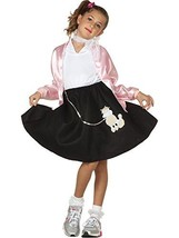 Classic Poodle Skirt Child Costume, Black, Child Medium - $26.90
