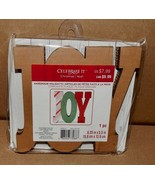 "Christmas Corrugate Craft Plaque Handmade Holiday's JOY  6"" x 5 1/2"" 175C - $5.49"