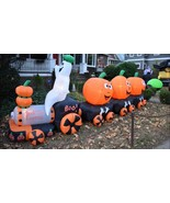 Halloween Airblown Inflatable BooExpress Ghost Pumpkin Train - $164.90