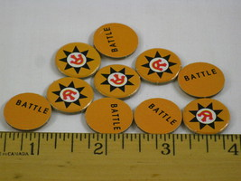 Fortress America Game Parts 10x Yellow Battle Markers - $5.82