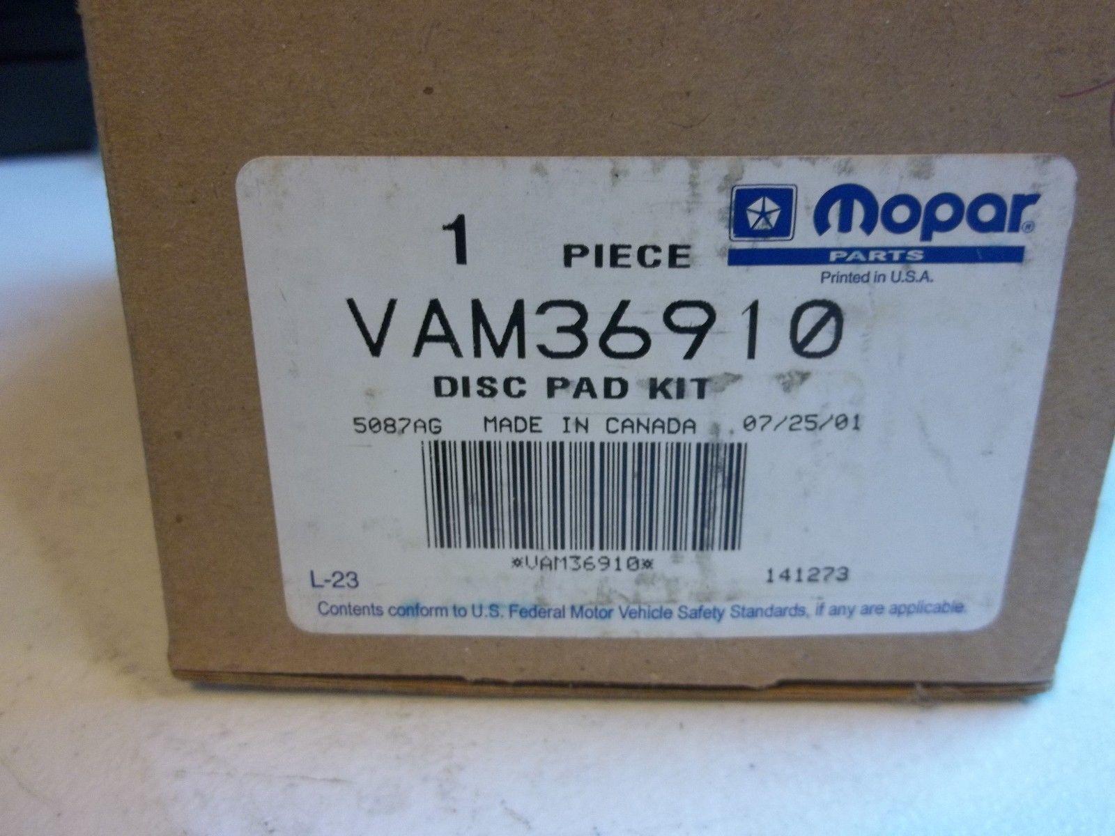 Mopar Disc Pad Kit VAM36910 New In The Original Box - $38.69