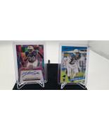Lot Of 2 Carolina Panthers Yetur Gross-Matos Rookie Auto 12/25 + Base Nu... - $25.14