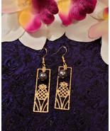 Gold Pineapple Pearl earrings - $20.00