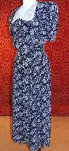CASUAL CORNER VTG 90s Navy floral teacher short sleeve button dress 8 (T... - $17.80
