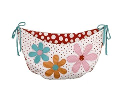 Cotton Tale 'Lizzie' Nursery Toy Bag - Daisy Flowers- Red Polka Dot - - $28.13