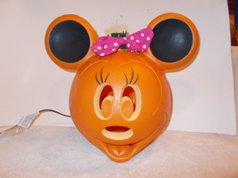 Disney Minnie Mouse Blow Mold Light Up Plastic Halloween Pumpkin Decorat... - €22,12 EUR