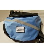 Feliscanis Dog Backpack Harness Vest Blue Adjustable Zip Side Pockets - $34.87
