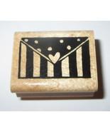 Envelope Letter Rubber Stamp Heart Stripes Polka Dots JRL Design Wood Mo... - $4.94