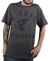 Famous Stars and Straps Men's Charcoal Heather Higher ED Education T-Shirt NWT