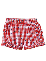 Disney Mnnie Mouse Girls' 2-Piece Americana Short Set Checked Size XL(14/16) - $39.97