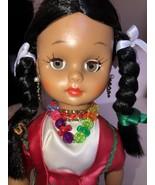 1960 Vintage Effanbee Native American, Mexican Sleep Eye Christmas Doll ... - $49.99