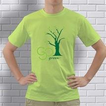 New Shirt Go Green Safe earth Color Green Size Extra Large Material Cotton - $27.00