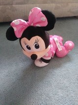 "Disney Fisher Price Touch N Crawl Minnie Mouse Electronic Talking 12"" Pl... - $14.85"