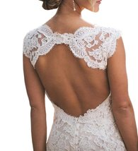Women's  A Line Lace Wedding Dresses Open Back Bridal Gown Cheap - $189.00