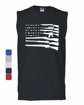 American Flag Muscle Shirt 2nd Amendment Gun Rights Homeland AR15 - $18.25+
