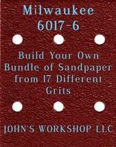 Build Your Own Bundle Milwaukee 6017-6 1/4 Sheet No-Slip Sandpaper 17 Grit - $0.99