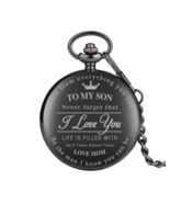 "Engraved Customized ""To My Son, I Love You"" Pattern Pocket Watches  - $13.50+"