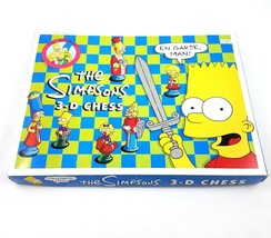 The Simpsons 3D Chess Set Game Matt Groening 1997 Complete Collectible - $49.34
