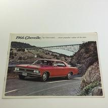 1966 Chevrolet Chevelle Sport 396 Coupe Car Sale Brochure - $22.09