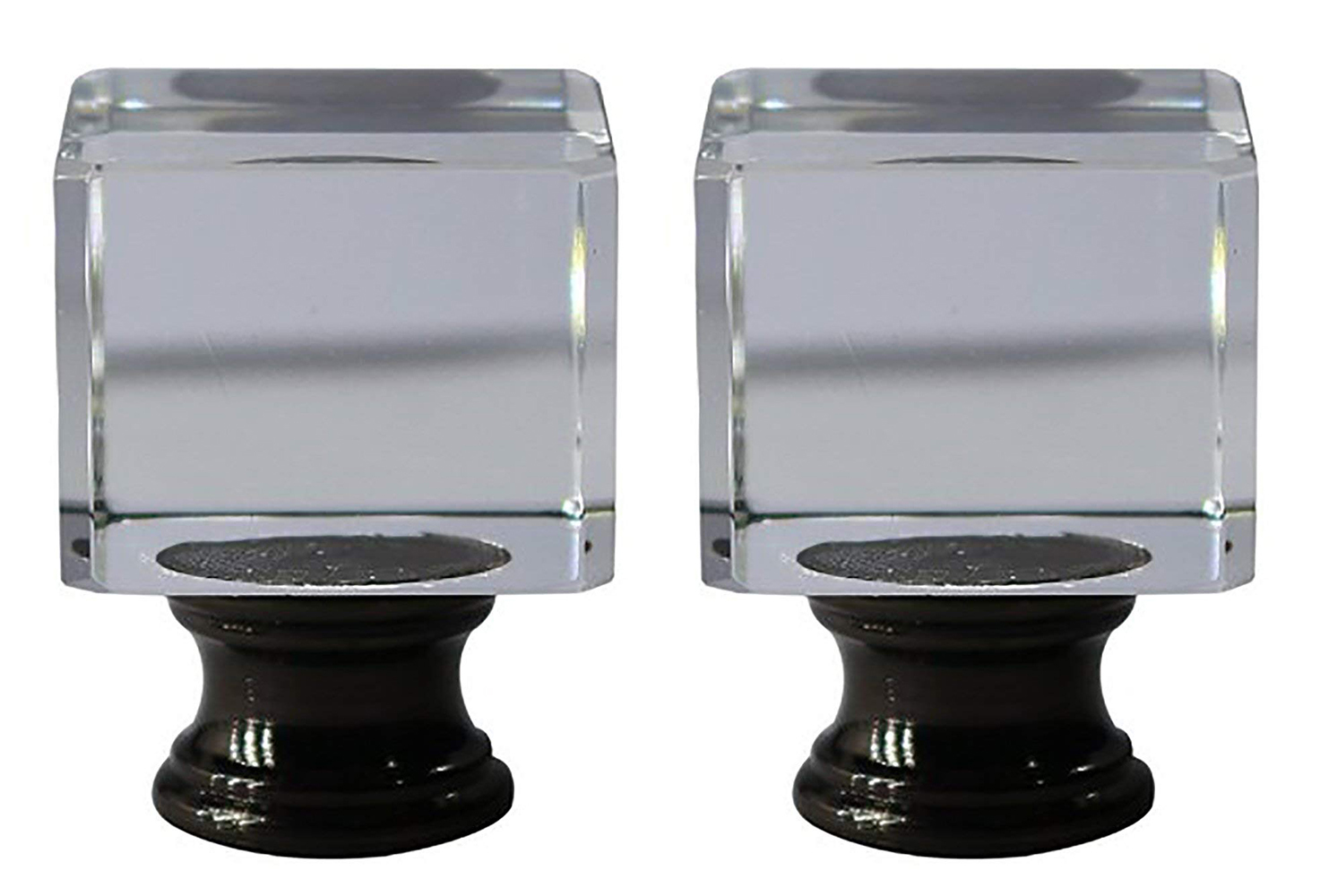 """Urbanest Crystal Glace Lamp Finial, 1 1/2"""" Tall image 6"""