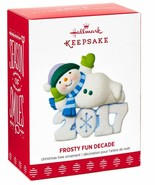 Hallmark Frosty Fun Decade 2017  Series 8th  2017 Keepsake Ornament - $9.90