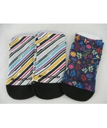 Brooks Pacesetter Tab Womens Running Socks 3 Pair Size 9-11 Run Happy St... - $12.86