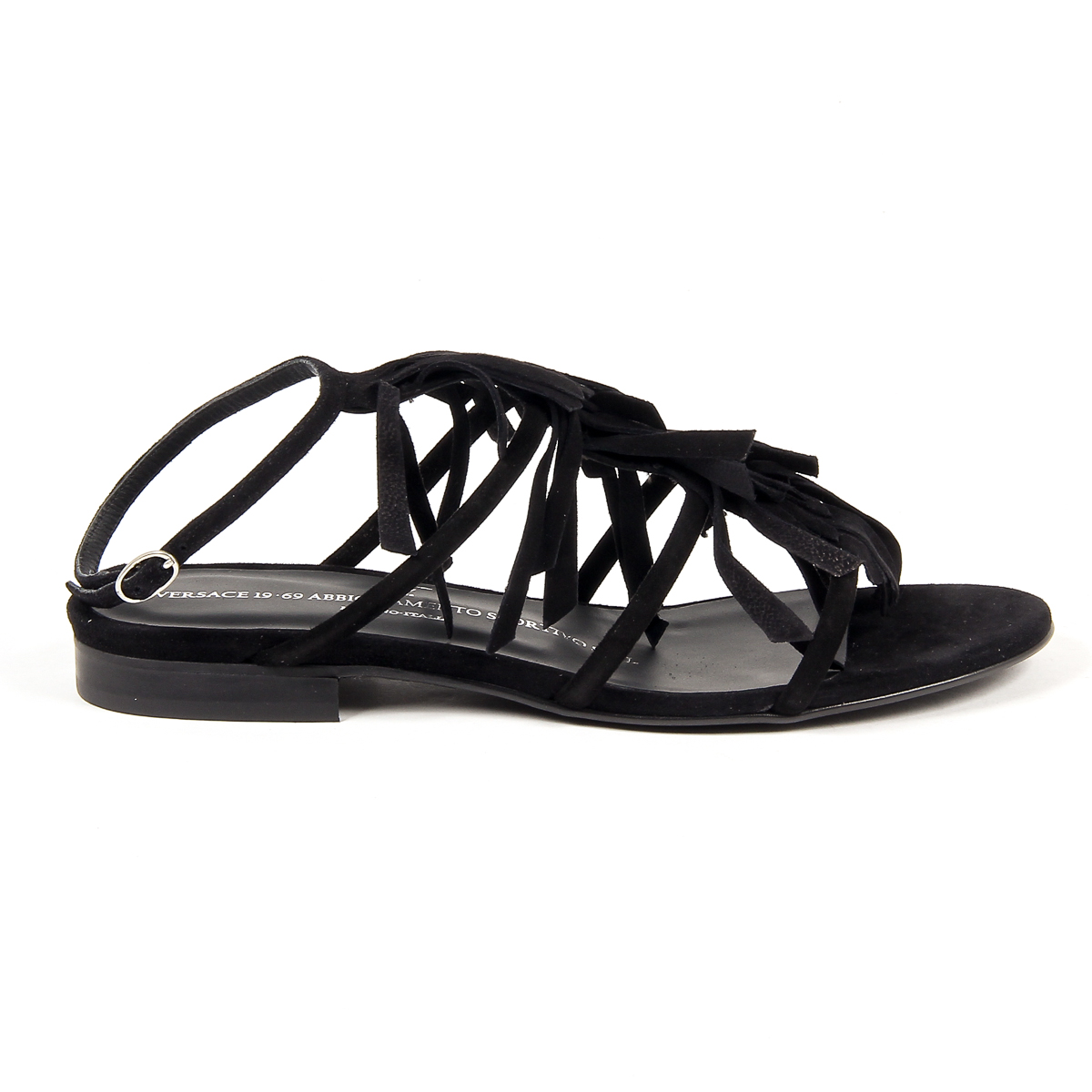 Primary image for V 1969 Italia Womens Flat Sandal Black RIA