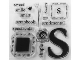 """Close to My Heart Solo """"S"""" Clear Acrylic Stamp Set #B1243"""