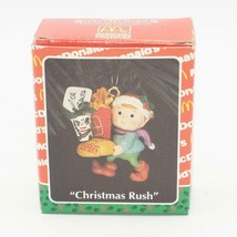Enesco Navidad Prisa Mcdonald'S Miniatura Ornamento 1993 Vintage - $23.26