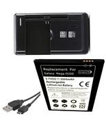 Samsung Galaxy Mega 6.3 SCH-P729 Battery + External Charger + USB Data C... - $19.82
