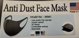 2 Black Anti Dust Facial Covering Washable/Reusable - $13.46