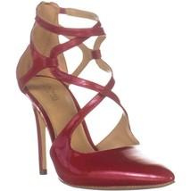 MICHAEL Michael Kors Catia Pump Stilleto Heels, Scarlet, 9.5 US - $55.67