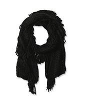 "NWT Steve Madden Black Fringe Benefits Muffler Scarf Knit Fringed 10"" x ... - €11,94 EUR"