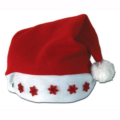 Beistle 1-Pack Light-Up Santa Hat