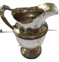 Viking Silver  water pitcher marked  V 16 A with ice lip 8 inches. Excellent con image 2