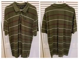 IZOD Mens Size XLGreen Striped Polo Shirt Mens size XL (H41) - $14.31
