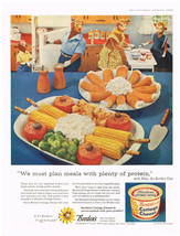 Vintage 1958 Magazine Ad Borden's Cottage Cheese Power Packed With Pure ... - $5.93